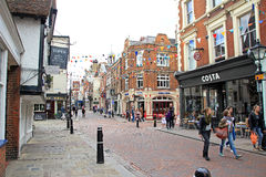 Historic rochester high street Royalty Free Stock Image