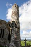 Historic rock of Cashel ruins Royalty Free Stock Photography