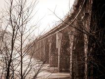 Historic Rockville Bridge in Harrisburg Royalty Free Stock Photos
