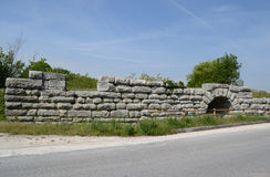Historic Roman bridge Stock Photography