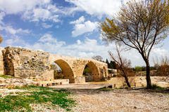 Historic Roman bridge near Antalya, Turkey. Royalty Free Stock Photography
