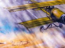 Historic romanian plane Royalty Free Stock Photos