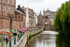 Historic romantic place in Ghent Royalty Free Stock Photography