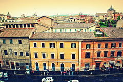 Historic Rome colorful buildings Italy Royalty Free Stock Photo