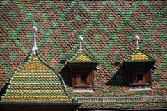Historic roof in Colmar Stock Photo