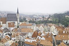 Historic rooftops of Cesky Krumlov Stock Photography