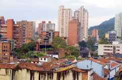Historic rooftops  La Candelaria Bogota Stock Image