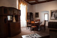 Historic room in Stara Lubovna castle, second stock photography