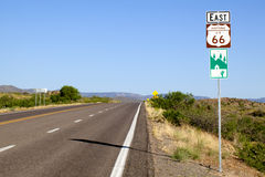 Historic Route 66. Headine east on historic route 66 in Arizona Royalty Free Stock Image