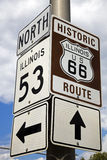 Historic Route 66. Beginning of Historic Route 66 Stock Photo