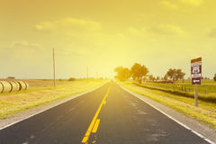 Historic Route 66. In the morning Royalty Free Stock Photo