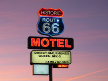Free Historic Route 66 Neon Sign Royalty Free Stock Photos - 26119788
