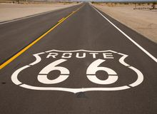 A Historic Route 66 painted on a highway Stock Photography
