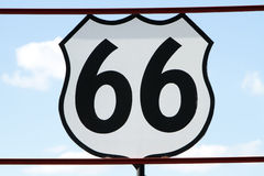 Historic route 66 sign Stock Images