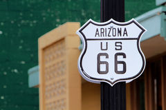 Historic route 66 sign Royalty Free Stock Photography