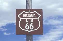 A historic route 66 sign Stock Photo