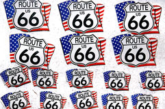 Historic Route 66 stickers Royalty Free Stock Photos