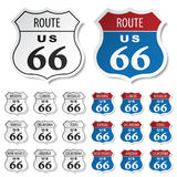 Historic route 66 stickers Stock Photography