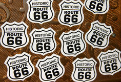 Historic route 66 symbols Royalty Free Stock Photos