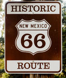 Historic Route 66 in USA. Photograph of historic route 66 road sign in New Mexico Stock Photos