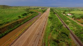 Historic Route 66 aerial video stock video