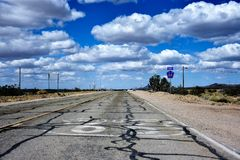 Historic Route 66 highway in Nevada royalty free stock photography