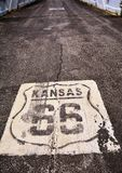 Route 66 sign in Kansas. Stock Images