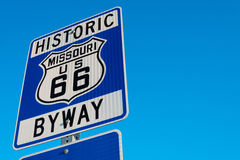 Historic Route 66 Road sign Royalty Free Stock Photo