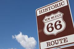 A Historic Route 66 road sign Royalty Free Stock Images