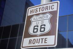 A historic route 66 sign Stock Image