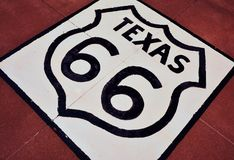 Route 66 sign in Texas. Royalty Free Stock Photos