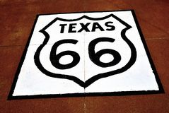 Route 66 sign in Texas. Royalty Free Stock Photography