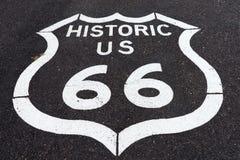 Historic route sixtysix marker in arizona Stock Photos
