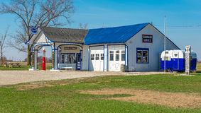 Historic Route 66 Standard Oil Gas Station. In Odell, Illinois Royalty Free Stock Photos