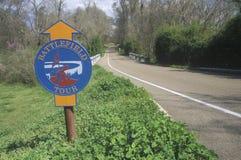 Historic route through Vicksburg National Military Royalty Free Stock Photo