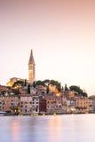 Historic Rovinj during sunset, Croatia Royalty Free Stock Photos