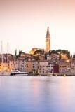 Historic Rovinj during sunset, Croatia Royalty Free Stock Images