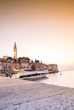Historic Rovinj during sunset, Croatia Stock Image