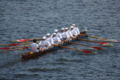 Historic rowing show Stock Photo