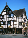 Historic Rowleys House in Shrewsbury, England. Rowleys House, a  timber framed building constructed in the sixteenth century. Shrewsbury, Shropshire, England Stock Images