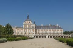 Royal Palace of Aranjuez in Madrid. A historic Royal Palace of Aranjuez in Madrid Spain Royalty Free Stock Images