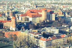Historic royal Wawel castle in Krakow Royalty Free Stock Photo