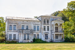 Historic ruin house. In classicist architecture style in spa town Heiligendamm, Germany Stock Photo