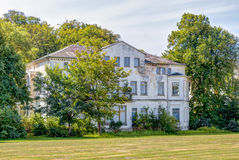 Historic ruin house. In classicist architecture style in spa town Heiligendamm, Germany Royalty Free Stock Photos