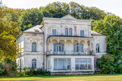 Historic ruin house. In classicist architecture style in spa town Heiligendamm, Germany Stock Photos