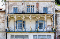 Historic ruin house. In classicist architecture style in spa town Heiligendamm, Germany Stock Photography