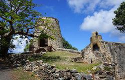 Historic Ruins. Ruins of Annaberg Sugar Plantation on St. John Island in the US Virgin Islands Royalty Free Stock Photography