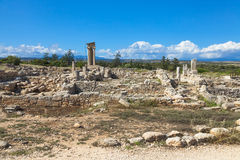 Historic ruins in Cyprus Royalty Free Stock Photo