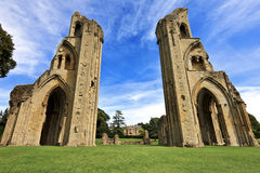 The historic ruins of Glastonbury Abbey in Somerset, England, United Kingdom Royalty Free Stock Images