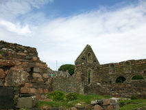 Historic Ruins on the Isle of Iona , Scotland Royalty Free Stock Image